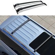 Black Top Roof Rack Luggage Carrier Rail 2pcs For Lincoln Navigator 2018-2021