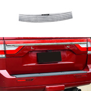 Silver Steel Outer Rear Bumper Protector Guard For Lincoln Navigator 2016-2017