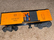 Vintage Lionel At And Sf 63132 Operating Boxcar W Figure Box Car