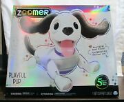 Zoomer Playful Pup Responsive Robotic Dog - Voice Recognition Brand New - Video
