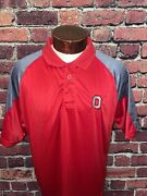 Ohio State Mens Xl Red Gray Short Sleeve Golf Polo Shirt