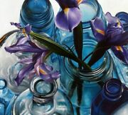 Diamond Diy Painting Flowers In The Bottles Designs Embroidery Portrait Displays