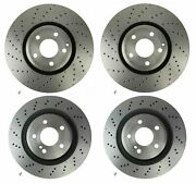 Front Rear Brembo Brake Disc Rotors X-drilled Kit For Mb R231 With Amg Sport Pkg