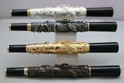 Jinhao No. 555 Dragon Embossed Fine Fountain Pens 4 Finishes Uk Seller