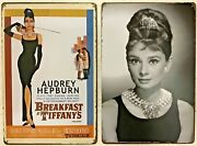 Two 8x12 Tin Signs Audrey Hepburn Breakfast Andrsquos Movie Peppard Rooney 381