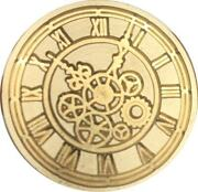 Steampunk Style Clock And Gears Wax Seal Stamp 1 Seal Wood Handle