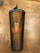 Starbucks 24oz Rare Copper Tumbler Honeycomb Limited Edition50th An