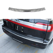Silver Steel Outer Rear Bumper Protector Guard For Lincoln Navigator 2018-2021