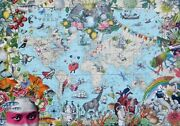 Heye Quirky World 2000 Pc Jigsaw Puzzle Map Art Us Seller