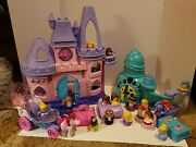 Snow White, Little Mermaid, Cinderella, Little People Lot With Extras. Disney