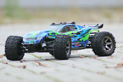 Traxxas Trx 67076-4 Green Rustler 4x4 Vxl Brushless Blue Stadium Truck 110 New