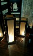 Unique Space Age Handcrafted Mid Century Retro Smoked Mirror Glass Lamps 32