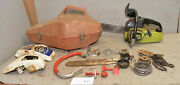 Rare Poulan 1976 Bicentennial Chainsaw Parts Plus Extra Saw Collectible Lot X0
