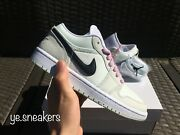 Womenandrsquos Air Jordan 1 Low Se Barely Green Pink Sizes 6.5-11 In-hand Cz0776-300