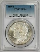 1880 S Morgan Dollar Pcgs Ms 64 Freshly Graded Just Back From Pcgs