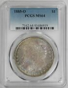 1885 O Morgan Dollar Pcgs Ms 64 Freshly Graded Just Back From Pcgs Toned