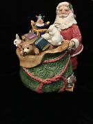 Fitz And Floyd Large Old Fashion Christmas Santa Claus Cookie Jar