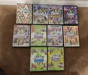 The Sims 3 Base Game +9 Expansion/stuff Packs Lot W/cases Pc/mac Fast Ship