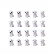Toyvian 20pcs Cute Mini Polar Bear Erasers Animal Pencil Erasers Puzzle Food For