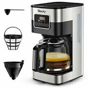 Sboly Programmable Coffee Maker 10 Cup Drip Coffee Maker With Glass Coffee Pot..