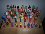 Vintage Lot Of 40 Pez Dispensers Holiday Miniand039s Simpsonand039s Halloween And More