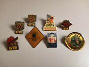 Vintage Superbowl Gte Fuji Film Nfl Pins Collector And Limited Editions Lot Of 8