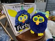 Hasbro 2012 Interactive Furby Boom Blue Yellow Teal Hair Electronic Works