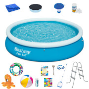 18in1 Swimming Pool Bestway 366cm 12ft Above Ground Round Pool + Patches