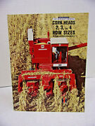 International Harvester 2 - 3 And 4 Row Sizes Corn Heads Buyers Guide