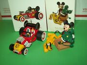 Hallmark Lot Mickey Roadster Racers Car And Knot A Problem Pluto 2010-18 Ornaments