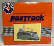 Lionel Train 6-12062 Fastrack Grade Crossing With Gates And Flashers. New In Box