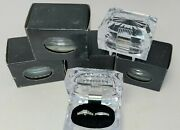 6 Clear Acrylic Crystal Double Ring Box Display Jewelry Gift Boxes 2.5x1.75 X2