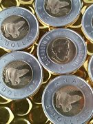Canada 2006 2 5 Items Toonie Churchill From Mint Roll Double Date 1996-2006