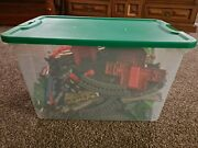 Thomas The Train Trackmaster Gullane Track Cave Crane And Motorized Trains Lot