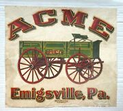C. 1890's Meyercord Co. Of Chicago Acme Wagon Transfer Window Sign