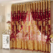 Modern Embroidered Sheer Curtains For Bedroom Kitchen Door Tulle Curtains Drapes