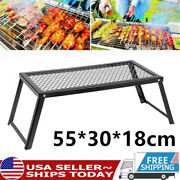 Outdoor Camping Bbq Grill Portable Fire Stove Folding Cooking Picnic Stove X2h9