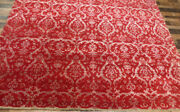 10and039x13and0395 New Damask Hand Knotted Wool Stunning Modern Oriental Fine Area Rug