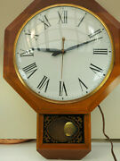 Vintage United Metal Goods Mfg Co Model No. 597 Electric Wall Clock 19 X 14