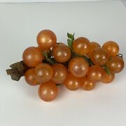 Vintage Large Lucite Amber Grape Cluster/driftwood-27 Golf Ball Size Grapes