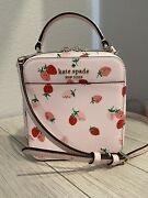 New Kate Spade Daisy Vanity Wild Strawberries Crossbody Bag Pink Limited Edition