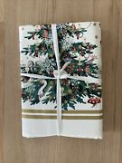 """Williams Sonoma Twas The Night Before Christmas 70 X 120""""holiday Tablecloth New"""