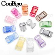 50x Assorted Colors Clear 3/8 Curved Side Release Buckles Paracord Bracelet