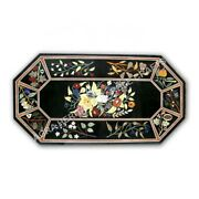 5and039x3and039 Marble Conference Table Top Marquetry Floral Inlay Interior Decor E1007