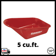 5 Cu. Ft. Steel Tray For Wheelbarrow Garden Planting Landscaping Lifting Tool