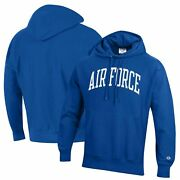 Air Force Falcons Champion Team Arch Reverse Weave Pullover Hoodie - Royal