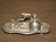 Vintage Van Bergh Sp Co Rochester Ny Silver Plate Table Lighter