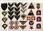 32 Vintage Original Us Army Wwii Patches
