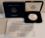 2007-w American Eagle 1 Proof Silver Dollar 1 Troy Ounce Coin Box And Coa Mg
