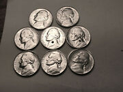 1944 S Partial Roll Of 8 Bu Uncirculated Silver Jefferson Nickel Some Problems